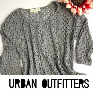 Urban Outfitters Staring at Stars Gray Crochet Top